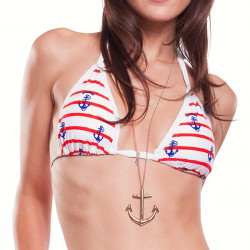 Dámské Plavky 69SLAM Horní Díl Triangle Sailors