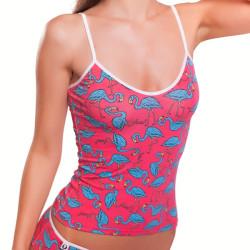 Dámské Tílko 69SLAM Top Bamboo Flamingo Coral S-Top