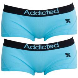 2PACK dámské kalhotky Addicted modrá