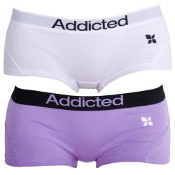 2PACK dámské kalhotky Addicted fialová bílá