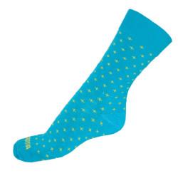Ponožky Infantia Classicline modré se žlutými křížky