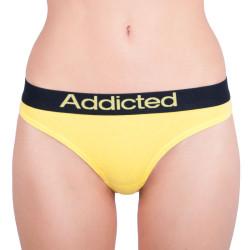 Dámská tanga Addicted žlutá