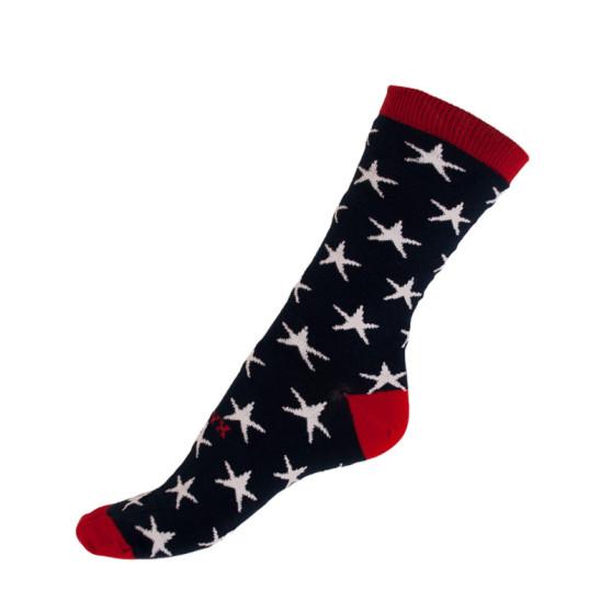 Ponožky Styx crazy modré s hvězdami (H330)