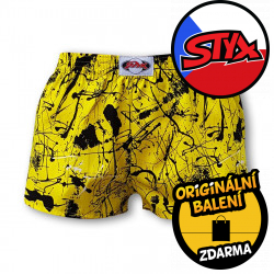Dětské trenky Styx klasická guma Jáchym žlutý (J751)