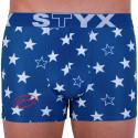 Pánske boxerky Styx art športový guma hviezdy (G658)