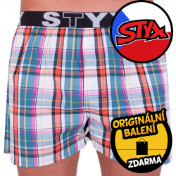 Pánské trenky Styx sportovní guma vícebarevné (B622)