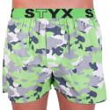 Pánske trenky Styx art športová guma zelený maskáč (B559)