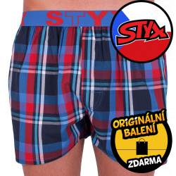 Pánské trenky Styx sportovní guma vícebarevné (B634)