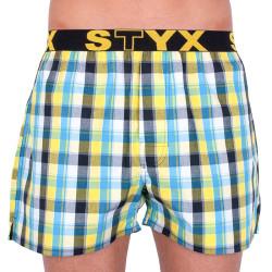 Pánské trenky Styx sportovní guma vícebarevné (B733)