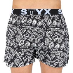 Pánské trenky Styx art sportovní guma tattoo (B854)