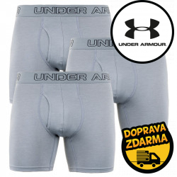 3PACK pánské boxerky Under Armour šedé (1277279 039)