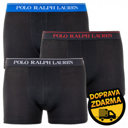 3PACK pánské boxerky Ralph Lauren černé (714662050035)