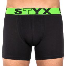 Pánské boxerky Styx long sportovní guma černé (U965)