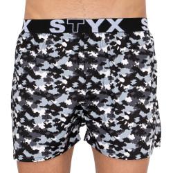 Pánské trenky Styx art sportovní guma maskáč digital (B856)