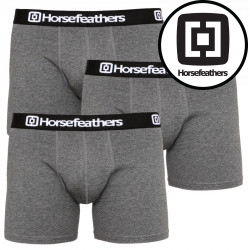 3PACK pánské boxerky Horsefeathers Dynasty heather antracite (AM067B)