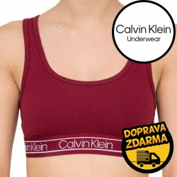 Dámská podprsenka Calvin Klein vínová (QF5233E-2XV)
