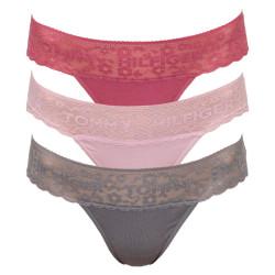 3PACK dámská tanga Tommy Hilfiger vícebarevná (UW0UW02036 087)