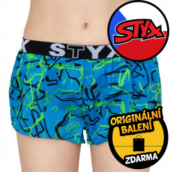 Dámské trenky Styx art sportovní guma Jáchym modré (T651)