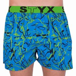Pánské trenky Styx art sportovní guma Jáchym modré (B651)