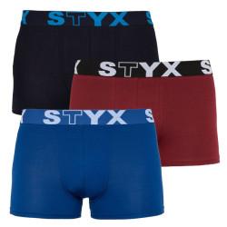 3PACK pánské boxerky Styx sportovní guma vícebarevné (G961681060)