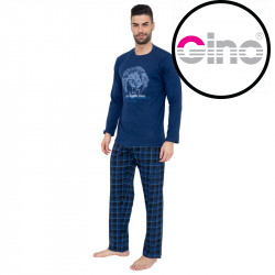 Pánské pyžamo Gino tmavě modé (79063)
