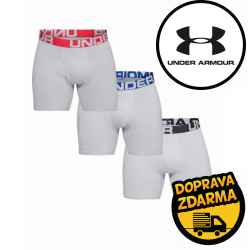 3PACK pánské boxerky Under Armour nadrozměr šedé (1327426 011)