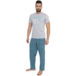 Pánské dlouhé pyžamo Molvy vícebarevné (AV-4311)
