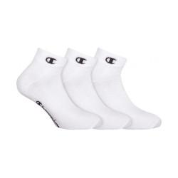 3PACK ponožky Champion bílé (Y08QH)