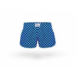 Dětské trenky ELKA sytě modré s puntíky (B0041)