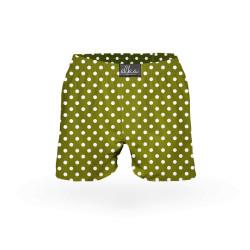 Pánské trenky ELKA khaki drobný puntík (P0039)