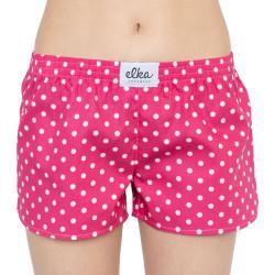 Dámské trenky ELKA růžové s puntíky (D0035)