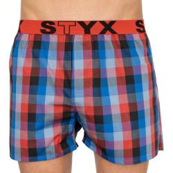 Bez obalu - Pánské trenky Styx sportovní guma vícebarevné (B803)