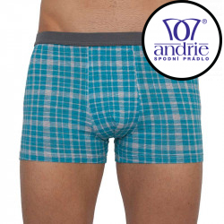 Pánské boxerky Andrie tyrkysové (PS 5257 A)