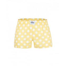 Dětské trenky ELKA žluté s bílými velkými puntíky (B0032)