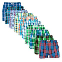 10PACK pánské trenky Styx klasická guma vícebarevné (A7323468912141718)