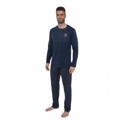 Pánské pyžamo Gino modré (79079)