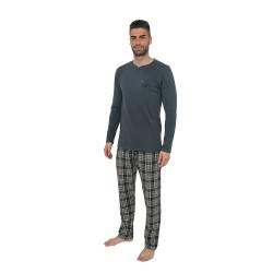 Pánské pyžamo Gino šedé (79071)