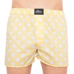 Pánské trenky ELKA žluté s velkými bílými puntíky (P0032)