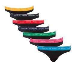 7PACK dámská tanga Calvin Klein černé (QF5937E-BAK)
