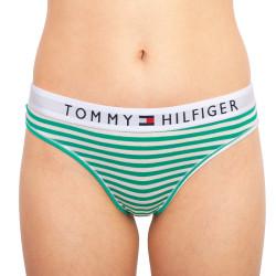 Dámská tanga Tommy Hilfiger zelené proužky (UW0UW02349 0IK)