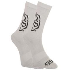 Ponožky Styx vysoké šedé s černým logem (HV1062)