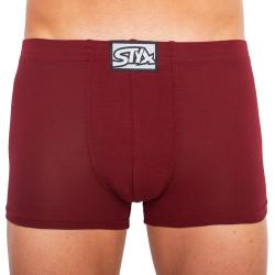 Pánské boxerky Styx klasická guma vínové (Q1060)
