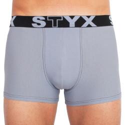 Pánské boxerky Styx sportovní guma nadrozměr světle šedé (R1067)
