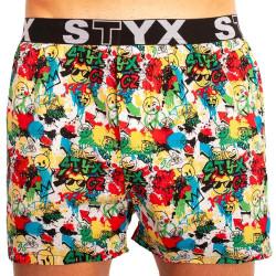 Pánské trenky Styx art sportovní guma emoji (B954)