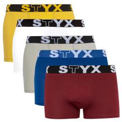 5PACK pánské boxerky Styx sportovní guma vícebarevné (G96860616265)