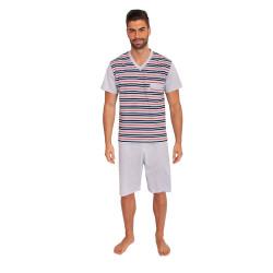 Pánské pyžamo Foltýn šedé (FPK8)