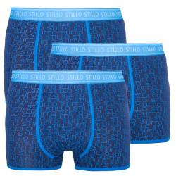 3PACK pánské boxerky Stillo modré (STP-0111111)