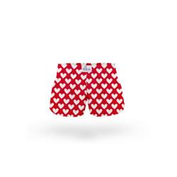 Dětské trenky ELKA červená velká srdíčka (B0017)