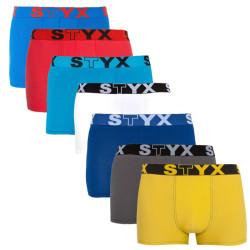 7PACK pánské boxerky Styx sportovní guma vícebarevné (G967686961636465)