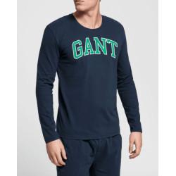 Pánské triko na spaní Gant tmavě modré (902039604-410)